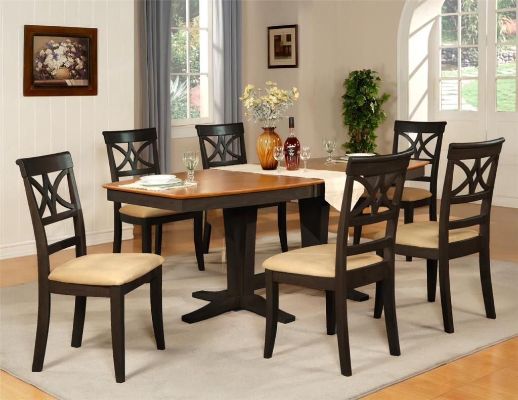 Black dining room table and chairs 1024x791
