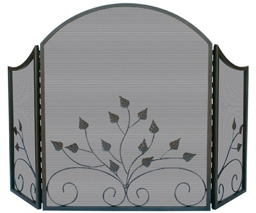 Decorative metal fireplace screens
