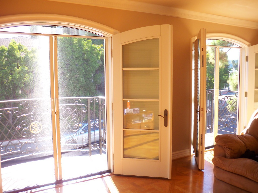 How to secure your double french doors a creative mom for Double glass french doors
