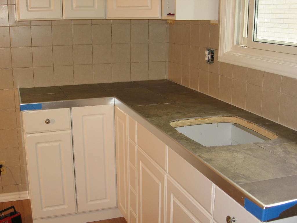 Granite tile counter top