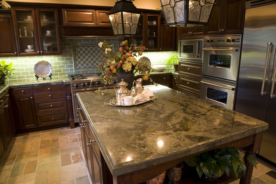 Granite tile countertops over laminate