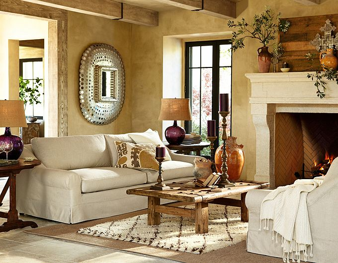 Pottery Barn Living Room Pictures