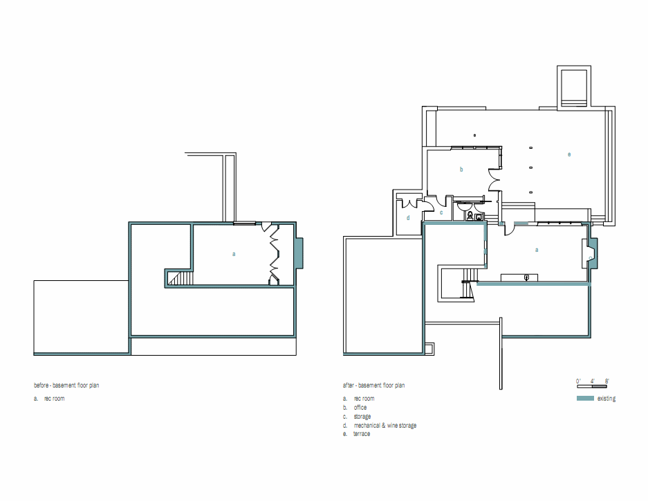 Ranch floor plans with basement
