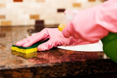 Cleaning granite countertops naturally