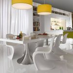 Light White Dining Interior Unique Chairs Modern Dining Table and Chair Sets