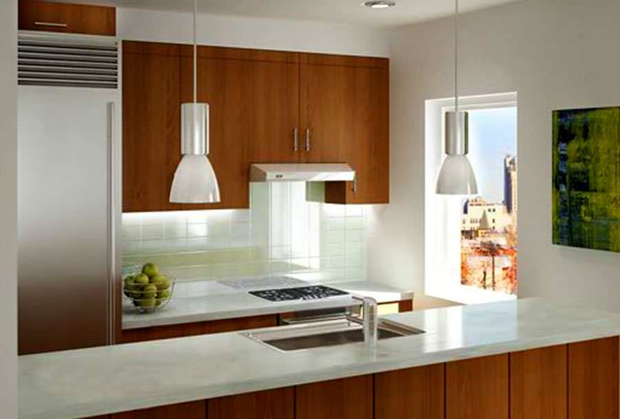 20 Space Saving Apartment Kitchen Design Ideas