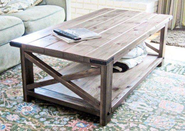 Building a rustic coffee table