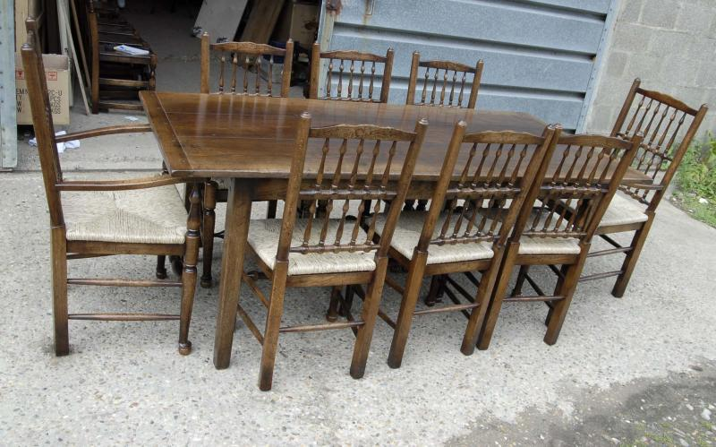 Farmhouse kitchen table sets