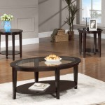 Oval Coffee Table Set