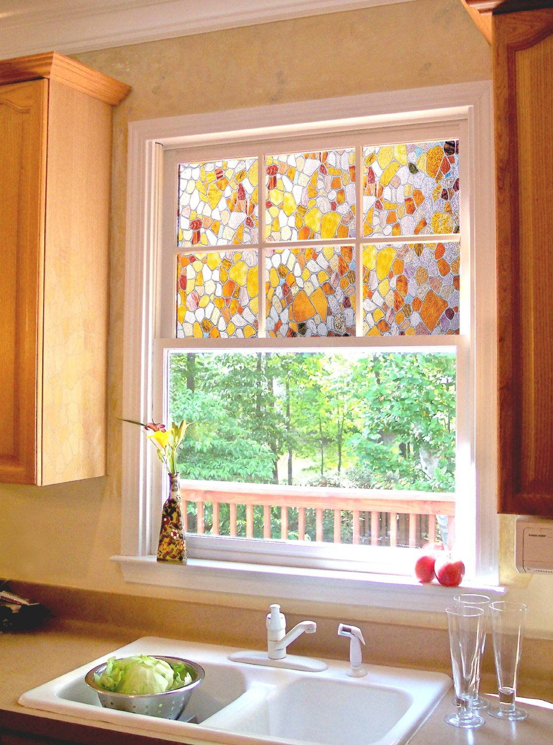 About stained glass window film what you need to know for Decorative window film stained glass victorian