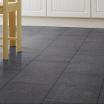 Black Slate Tile Effect Laminate Flooring For Kitchens