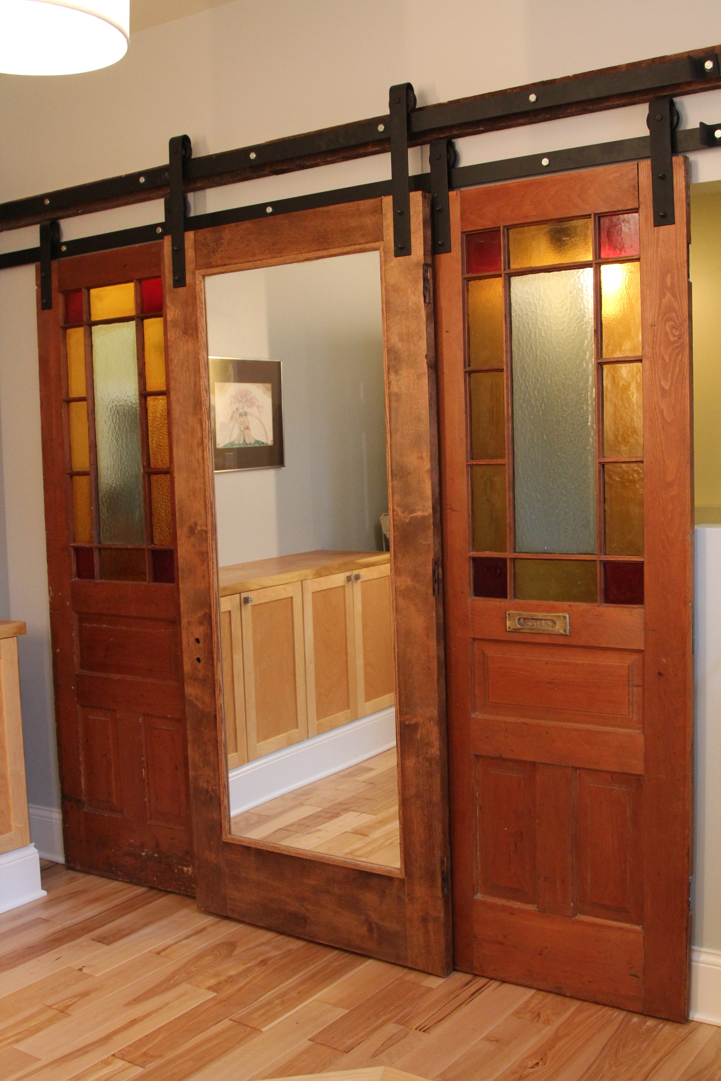 Sliding barn doors exterior