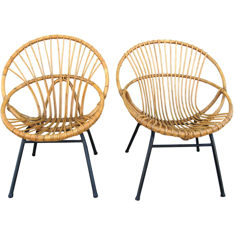 Bamboo chairs vintage