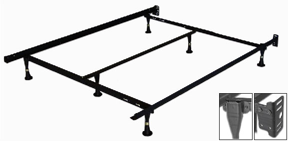 Metal bed frame full