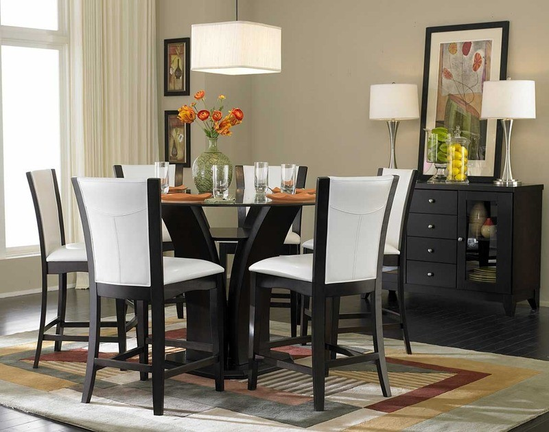 Black Round Pedestal Dining Table