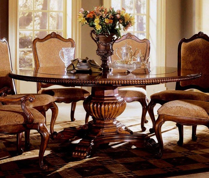 Large Round Pedestal Dining Table