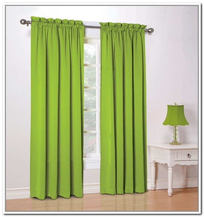 Lime Green Valance Curtains