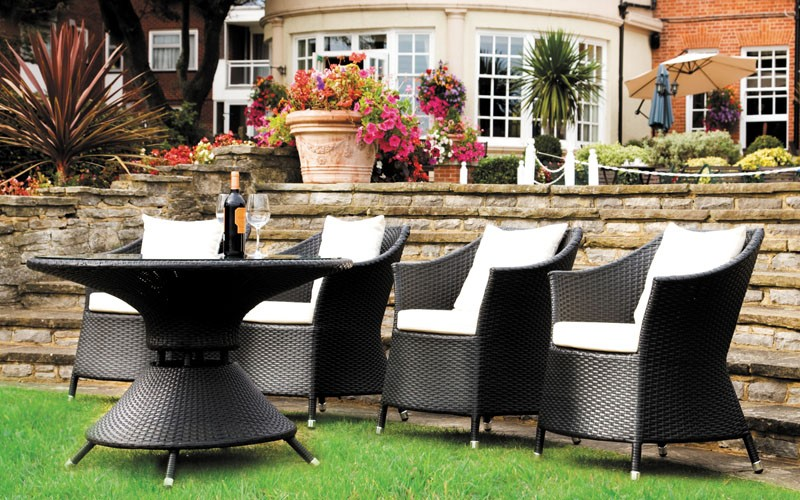 Rattan Chairs And Dining Table