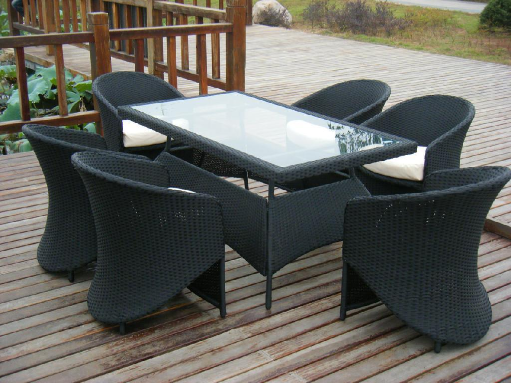 Rattan Garden Dining Chairs