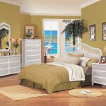White Wicker Bedroom