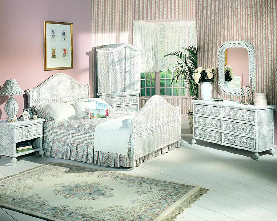 White Wicker Furniture Bedroom