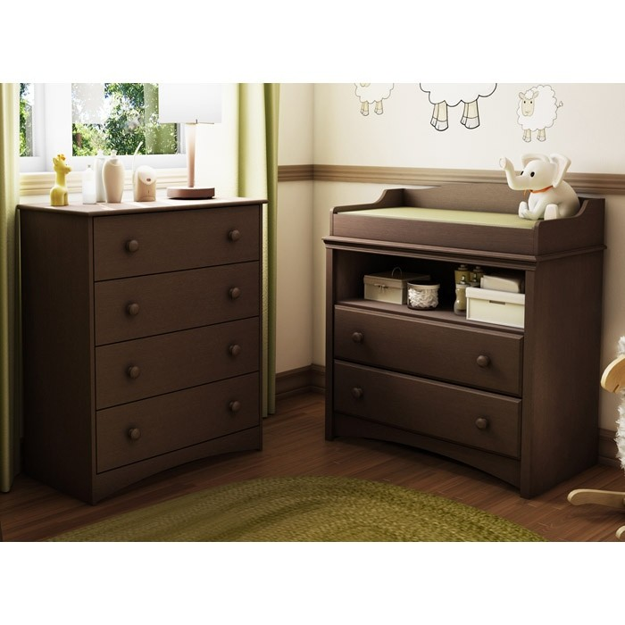 Changing Table Dresser Hutch