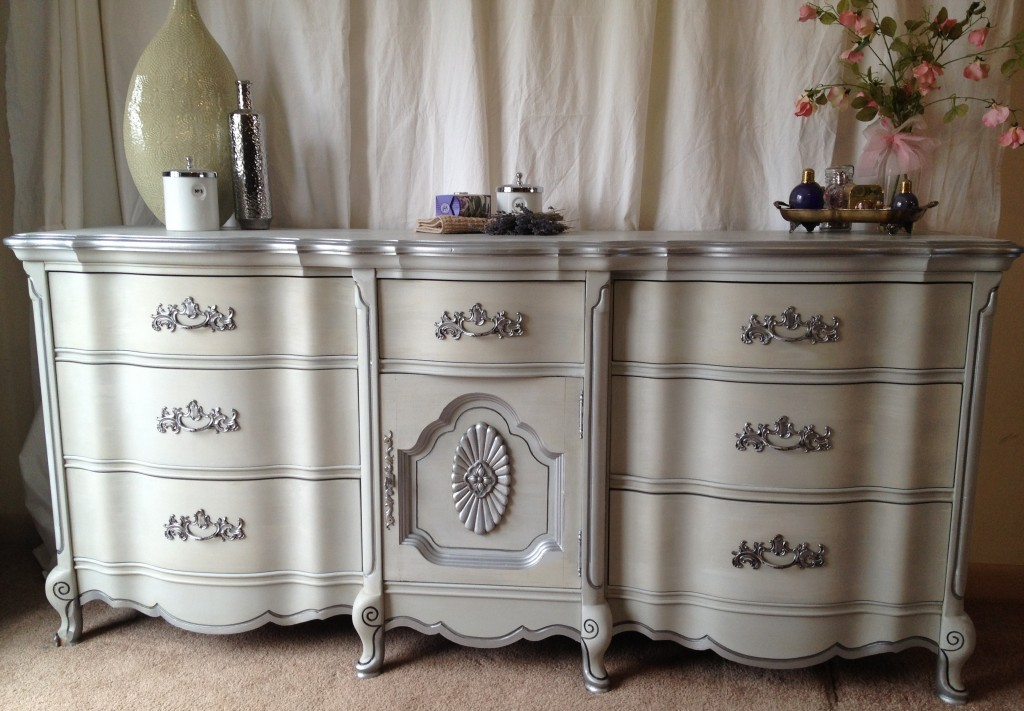 Painting French Provincial Dresser