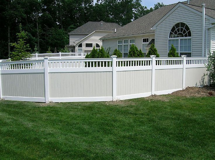 White Vinyl Fence Boards