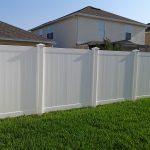 White Vinyl Garden Fencing