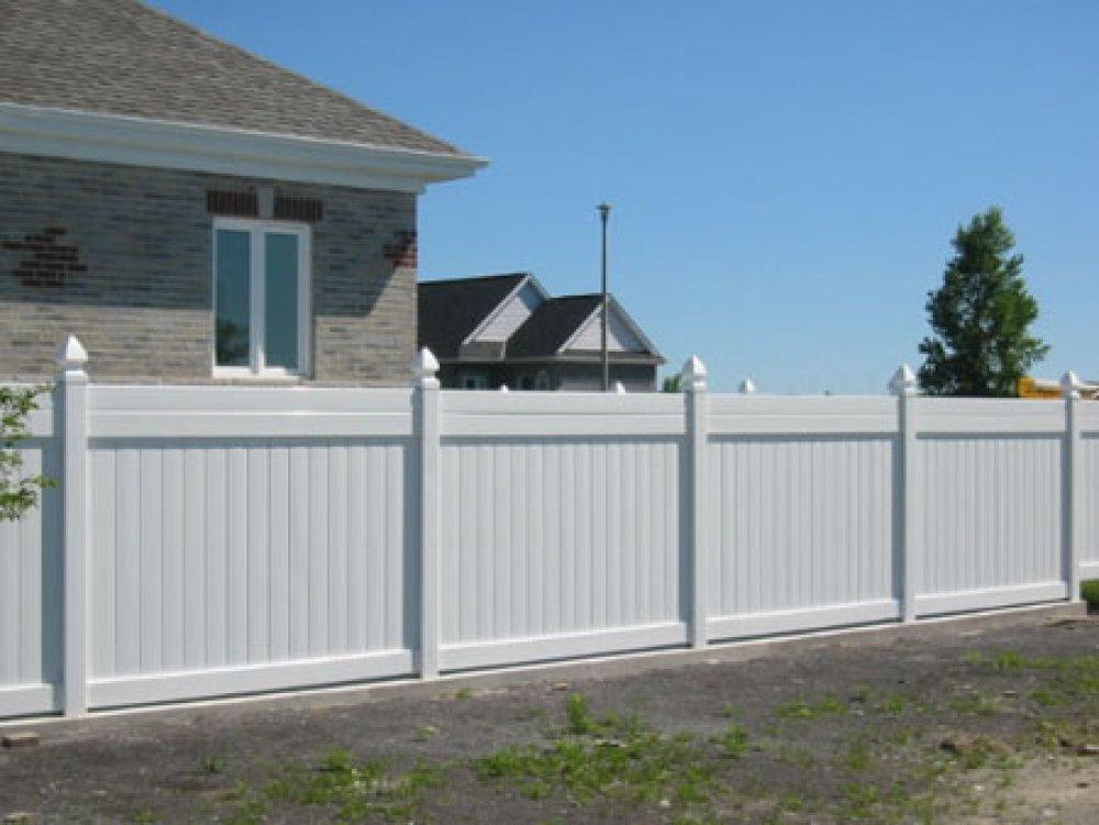 White Vinyl Picket Fencing