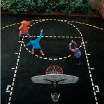 basketball court  stencil backyard