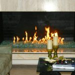 Fireplace Glass Rock