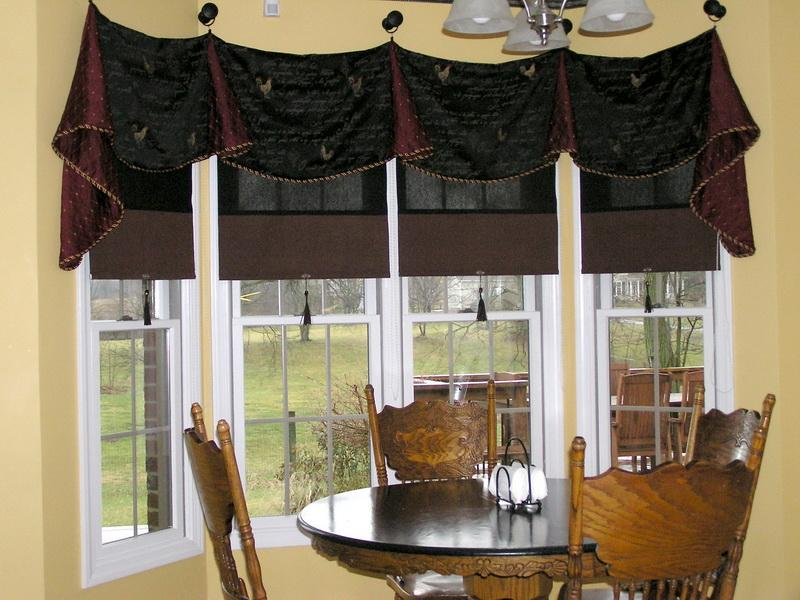 Kitchen Bay Window Treatments