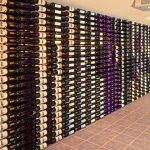 huge wall mounted wine storage rack