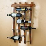 wall mount wine rack multi