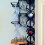 metal wall mount wine rack