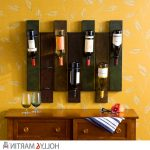 decorative wall mount wine rack