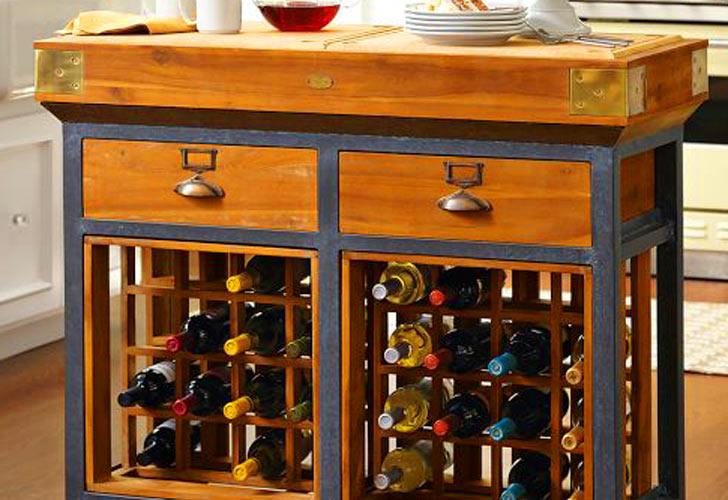 Kitchen Island Design With Wine Rack