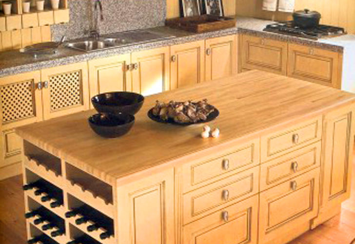 Kitchen Island With Built In Wine Rack