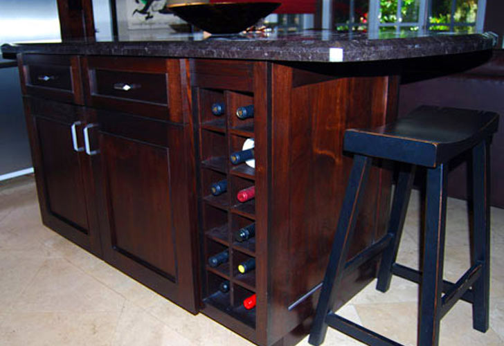 Small Kitchen Island With Wine Rack