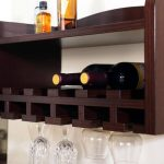 Wall Mount Wine Rack And Wine Glass Holder