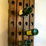 wall mount wine rack wood