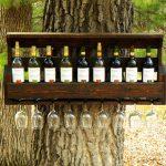 Wall Mounted Wine Rack Cabinet