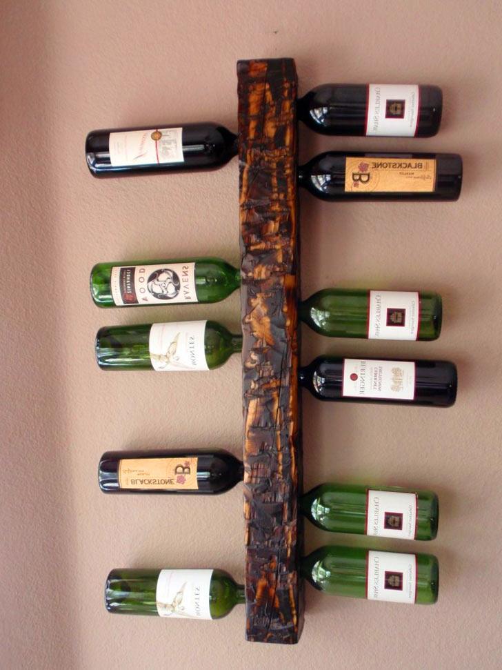 Wall Mounted Wine Rack Display