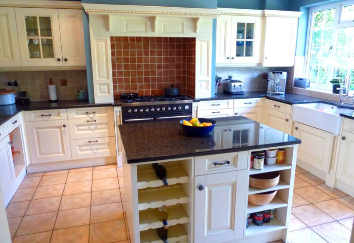 White Kitchen Island With Built In Wine Rack