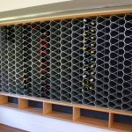wine rack metal display
