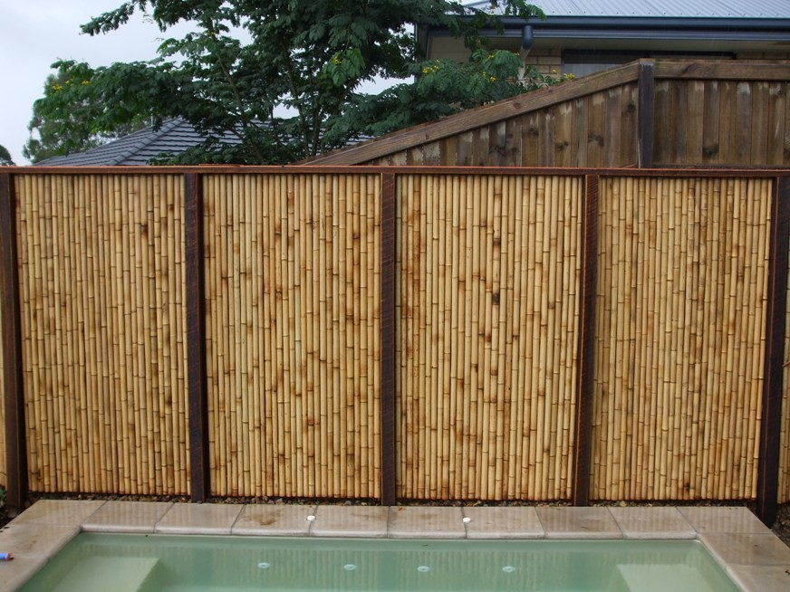 Bamboo Fence Installation