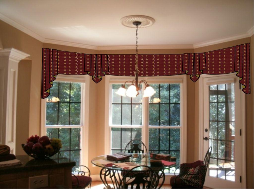 Bay Window Curtain Rod System