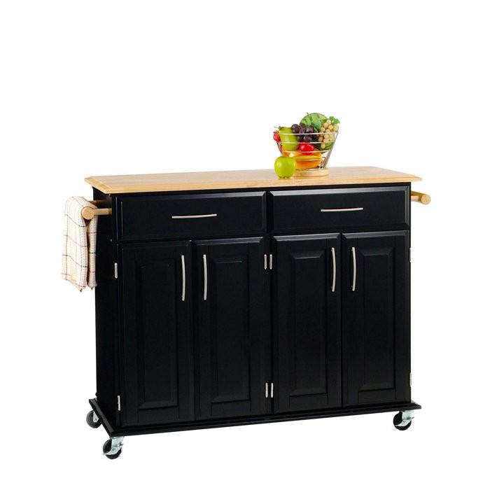 Kitchen Island Cart With Breakfast Bar