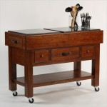 Kitchen Island Cart With Drop Leaf